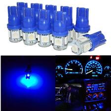 10X T10 Blue 5050 5SMD LED Bulbs Car Read Dash Wedge Side Light 194 168 W5W 2825