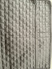 2 Hotel Collection King Grey Quilted Shams ! Nwot!