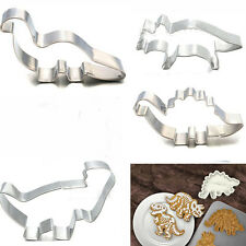 Stainless Steel Dinosaur Animal Cake Baking Mold Fondant Biscuit Kitchen Cutter