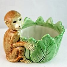 Fitz & Floyd Monkey Jungle Exotic Votive Candle Holder Made in Japan 1986