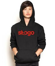 Slogo Man TEXT Hooded Jumper YouTube Viral Gamer Hoodie Kids & Adults Sizes