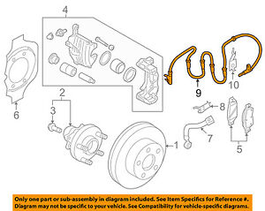 Infiniti NISSAN OEM FX50 ABS Anti-lock Brakes-Front Speed Sensor 479101WW0A