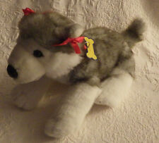 Siberian Husky Puppy Dog Build a Bear Nametag Plush Stuffed Animal Toy 18""