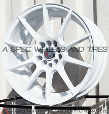 17X9 F1R F17 WHEEL 5x100/114.3 +38MM WHITE RIM FITS HONDA ACCORD CIVIC