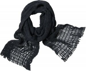 NEW Black Margaret Howell MHL knitted Cotton Net Scarf