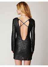 NWT $358 NIGHTCAP BLACK METALLIC PRISCILLA DRESS 3 M