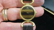 Baume & Mercier~18K Gold~Stone Tiger Eye Dial~Mechanical~Dress Swiss Watch~1970'