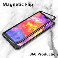 360º Filp Magnetic Adsorption Clear Case Cover for Xiaomi Mi 9/Redmi 6A/Note 5/7