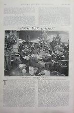 1902 PRINT ~ ON BOARD A GERMAN MAN-OF-WAR GERMAN NAVY SOLDIERS RECEIVING GIFTS