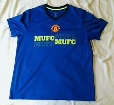 Manchester United Blue Athletic Soccer Shirt ~ Men's XL ~ SS MUFC football