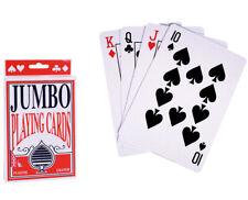 XXL KARTENSPIEL 54 Blatt Rommee Spielkarten extra groß Skat MauMau Karten Poker