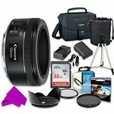 Professional Accessory Kit with Canon EF 50mm f/1.8 STM Lens & SD 32GB Memory