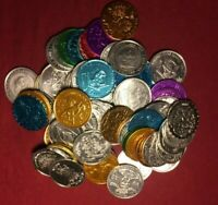 Junk Drawer Lot of 25 Mardi Gras Doubloons (Aluminum)