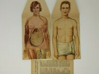 Vintage Manikins New Modern Home Physicians Male Female Anatomy Fold out Models