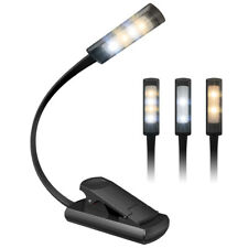 Rechargeable Travel LED Book Light 3 Light Modes Switchable 4 LED Reading Light