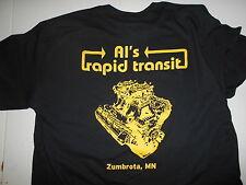 New Al's Rapid Transit Hemi T-Shirt BLACK XL Men's BMX Tunnel Ram ZUMBROTA MN
