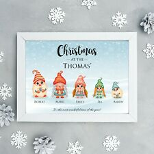 Personalised Family Christmas Print Christmas Wall Print Christmas Decor, Gift