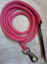 8ft Lead Rope Bull Snap - Pink - Horsemanship, Dressage by Natural Equipment