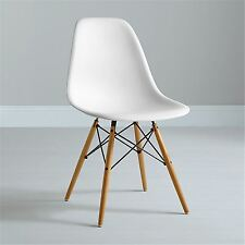 Modern White Plastic Dining Chair inspired Eiffel DSW style Lounge Retro White
