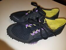240afd6fce2 PUMA Fitness Ortholite Shoes 8 womens black suede and fabric yellow purple  lace