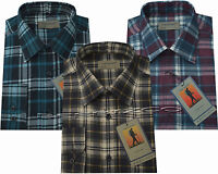 New Mens Flannel Lumberjack Check Brushed Cotton Work Shirt M - XXL By Tom Hagan