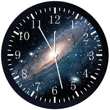 Space Black Frame Wall Clock Nice For Decor or Gifts Z108