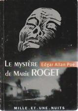 EDGAR ALLAN POE LE MYSTERE DE MARIE ROGET poche