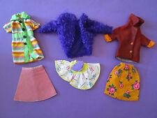 (289) 3 viejos vintage BARBIE rock/obertel-combinaciones barbie u.a.29cm Mode muñecas