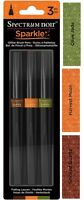 Spectrum Noir Sparkle Brush Pens 3pc Set - Falling Leaves Glitter Markers - Fall