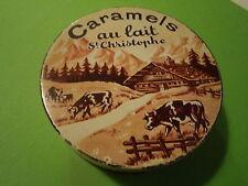 Très ancienne boîte de Caramels SAINT CHRISTOPHE Carpentras Raquille Chabas