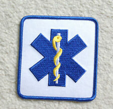 "eca sja emt ems paramedic ambulance sew on patch star of life staf shield 3.5"""