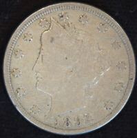 1892 Liberty Nickel, V Nickel, Very Fine Condition, Free Shipping in USA, C4697