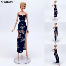 "Black Floral Evening Party Dress for 11.5"" Doll Outfits 1/6 BJD Doll Clothes Toy"