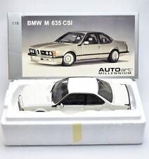 "Autoart bmw m 635 CSI e24 auto deportivo ""Millennium"" en blanco, 1:18, embalaje original, k012"