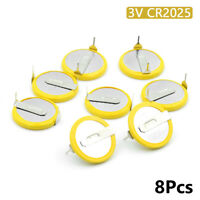 Battery CR2025 3V 2 Tabs Coin Cell For Main Board Toy Electronic Scale 8Pcs 031