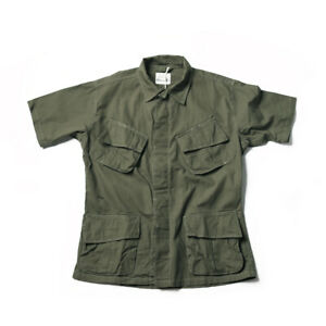 NON STOCK TCU Ripstop Slant Pocket Jungle Shirts Military Fatigue Short Sleeves