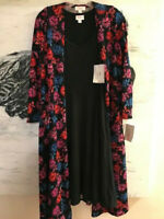 LuLaRoe SET Women's NICKI Dress SMALL VHTF SOLID BLACK & Sarah Cardigan Top S