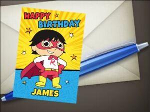 Ryans world personalised birthday card