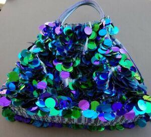 Far Nine Purse Beach Bag Tote Handbag Sequins Pastilles