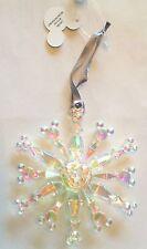 BNWT Disney Parks Mickey Mouse Snowflake Plastic Christmas Tree Ornament
