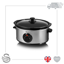 Swan SF17020N 3.5 Litre Stainless Steel Slow Cooker with 3 Cooking Settings