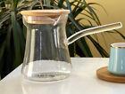 Glass Turkish Arabic Coffee Pot Borosilicate Glass With Lid Maker Espresso
