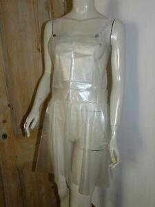 PVC-U-Like PVC Apron Dress Overall Pinny Plastic Pinnie Clear See Thru XL XXL 3X
