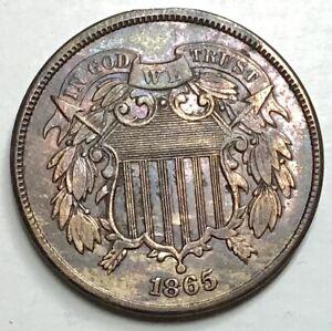 1865 2 CENTS COPPER / USA