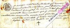 Billet a Ordre bon au porteur manuscrit timbre royal sec& humide 1833 ? lot 21