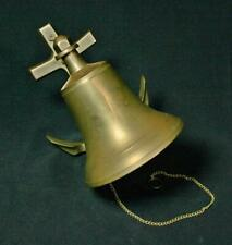 New ListingVintage Solid Brass Ship Bell with Anchor Wall Mount 1960's