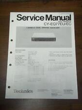 Technics Service Manual for the CY EQ77 EU EC Graphic Equalizer~Repair