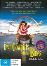 EVEN COWGIRLS Get The BLUES DVD BRAND NEW V. RARE COMEDY ROMANCE Uma Thurman R4