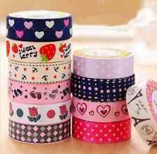 DIY Cute Satin Lace Decorative Masking Adhesive Tape Washi Sticky Fabric Sticker