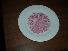 Lot of 3 Harvest USA 6 5/8 inch bread plates red fruit pattern